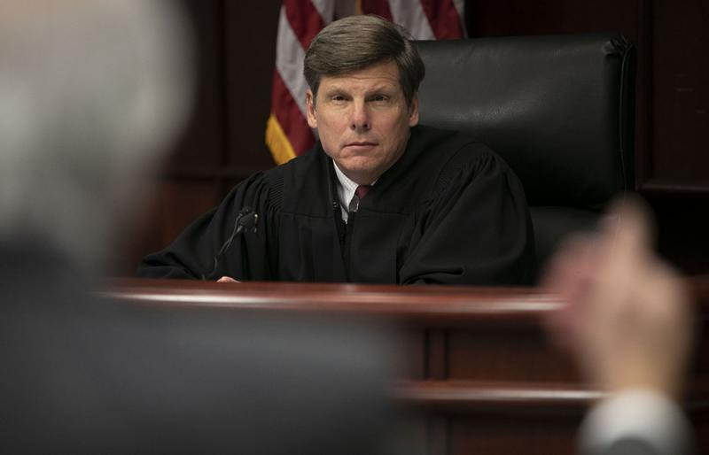 Attorney David B. Freeman, who represents Mark E. Harris, makes an argument before Senior Resident Superior Court Judge Paul C. Ridgeway during a hearing on Mark E. Harris v. NC State Board of Elections on Tues., Jan. 22, 2019 in Raleigh, N.C.