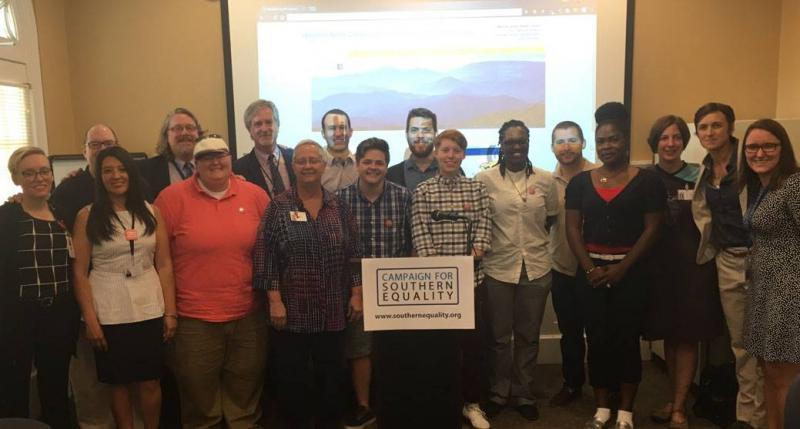 Group photo from The Campaign for Southern Equality.