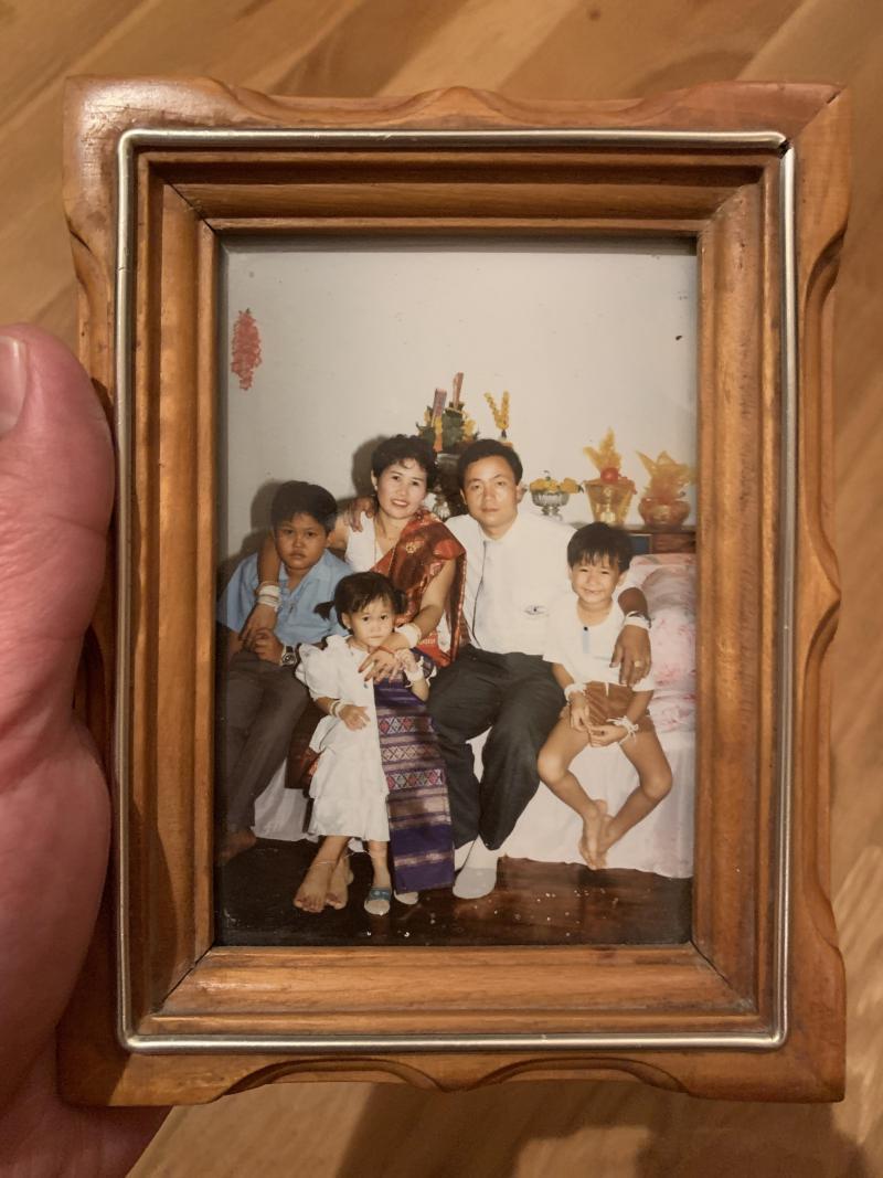 Nolintha family photo before Vansana immigrated to North Carolina.