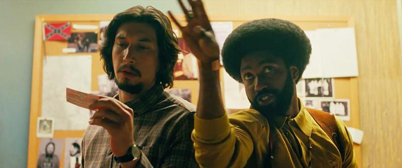 Still from the movie, 'BlacKkKlansman'