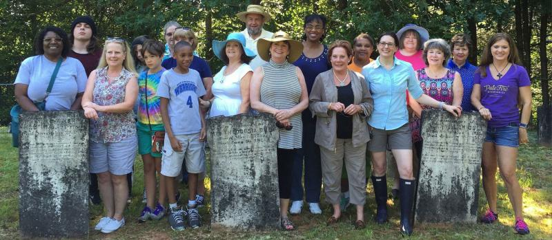 Various branches of the Dula family come together at the Dulatown gravesite.