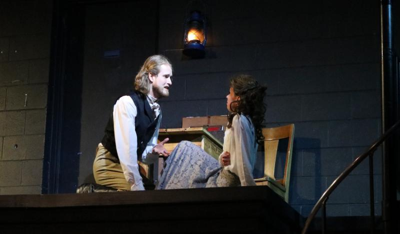 Nathan E. Bradshaw as Duke Vincentio and Rosemary Richards as Isabella in Shakespeare's 'Measure for Measure,' on stage in Raleigh January 11th - 27th.