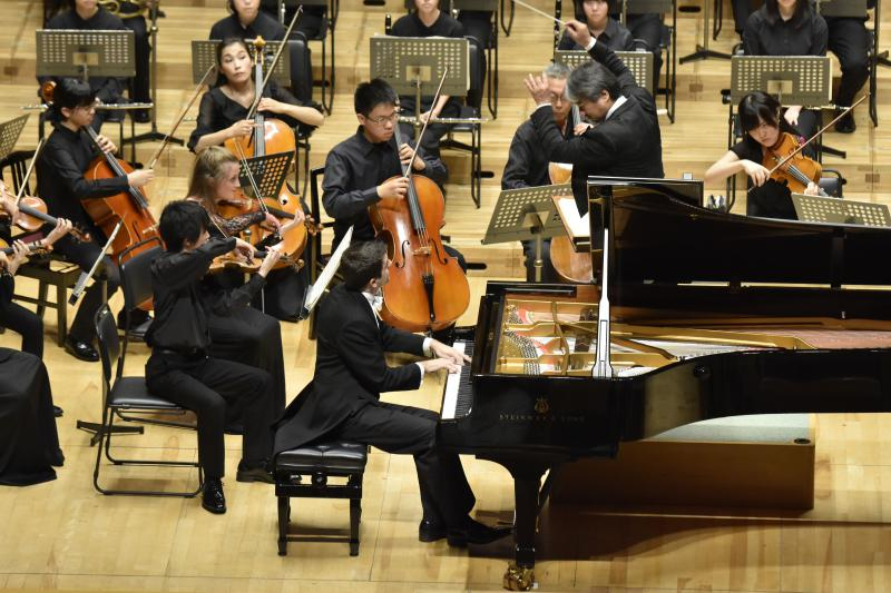 With Fukushima Youth Sinfonietta, Tokyo Opera City attended by Her Majesty Michiko, Empress of Japan, August 2015