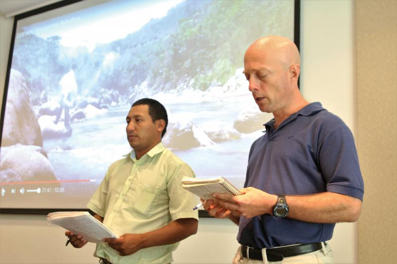 Ron Garcia-Fogarty (right) brings passion to translation and cross-cultural communications.
