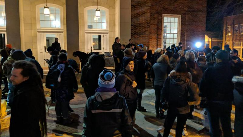 Activists gathered in downtown Chapel Hill on Jan. 15, 2019 to celebrate the removal of the Silent Sam pedestal.