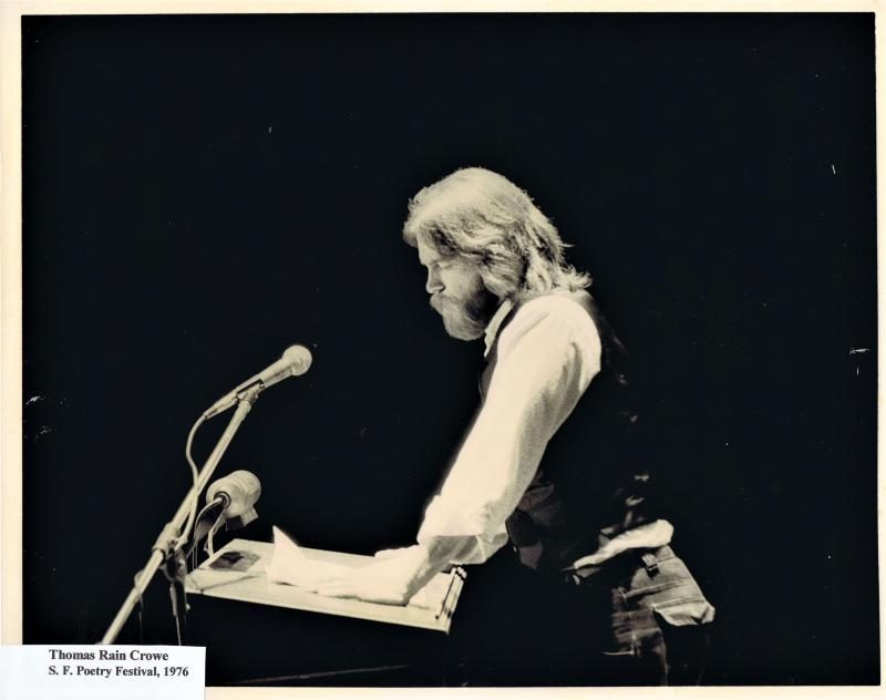 Thomas Rain Crowe reading at the San Francisco Poetry Festival