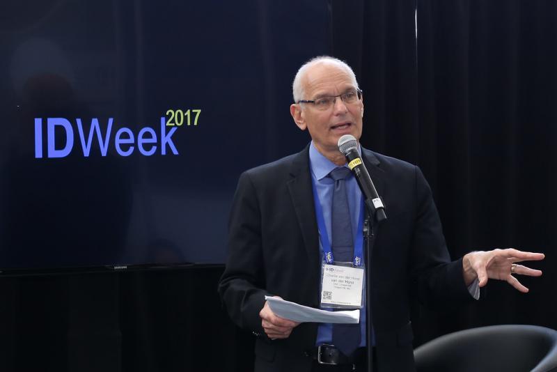 Dr. Charles Van Der Horst speaking at 2017 ID Week.