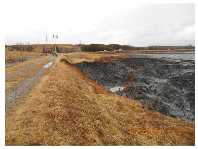 This is what the coal ash basin looked like after it drained.