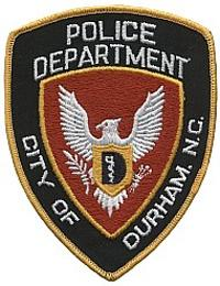 Durham Police Department badge.