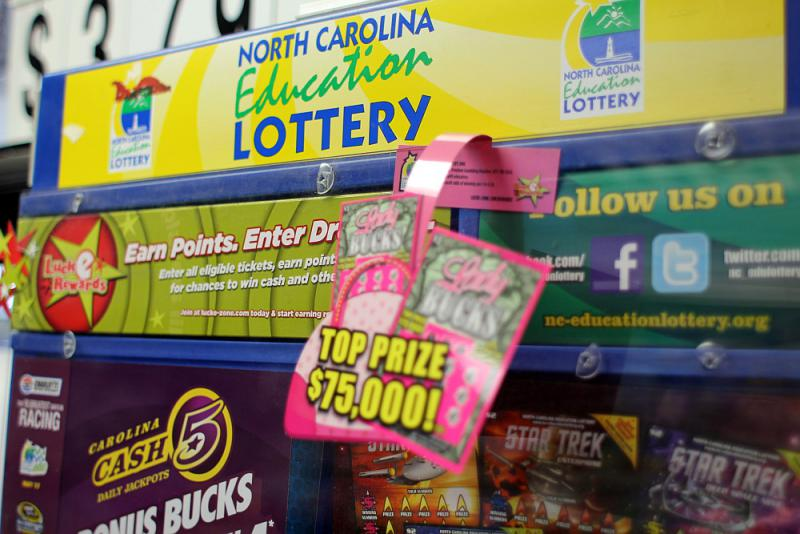 NC Education lottery at the Carrboro Food Mart.