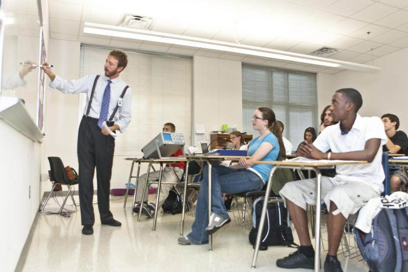 Students in a Guilford County classroom.