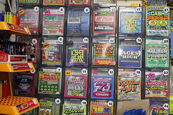 Lottery tickets at the Carrboro Food Mart.