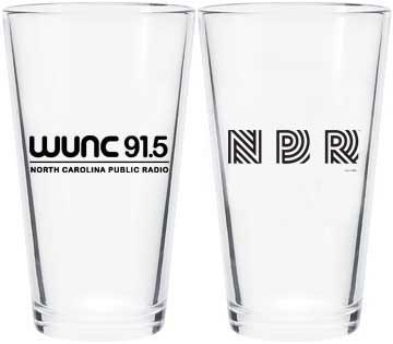 WUNC/Vintage NPR Pint Glass