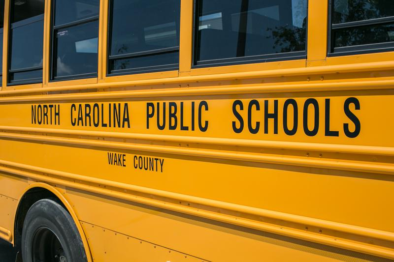 A Wake County Public Schools bus.