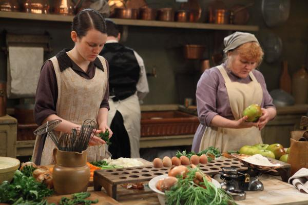 Downton's kitchen maid Daisy and cook Mrs. Patmore