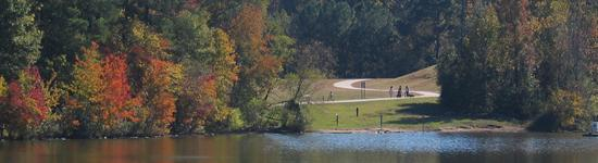 Shelley Lake Park and the Mine Creek Trail in Raleigh