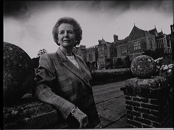 Margaret Thatcher at Chequers. Photo taken September 1, 1993 in Ellesborough, England, GB.