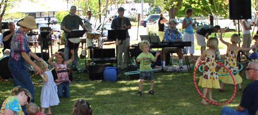 A summer concert at Weaver St. Market.