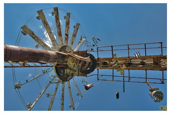 A whirligig from Vollis Simpson's whirligig farm in Lucama, NC.