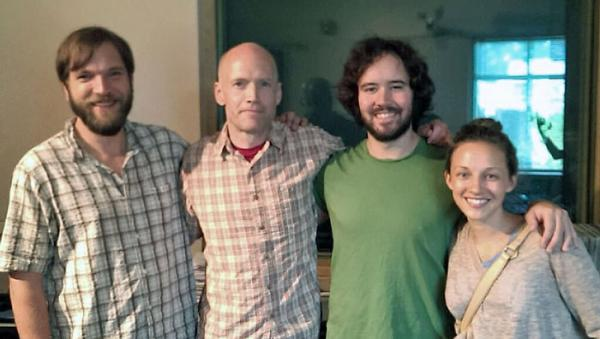 Jeff Crawford, host Eric Hodge, Andrew Marlin and Emily Frantz