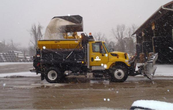 Truck being loaded with salt, Craven County (2/11/14)