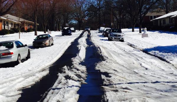 Glen Lennox neighborhood of Chapel Hill. Image taken around noon 2/14/14