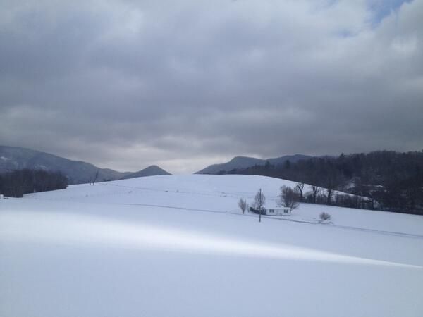 'Looking toward Hickory Nut Gap in the snow!'