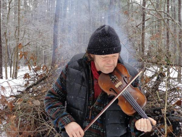 'Snow fiddling. Where is the smoke coming from?'