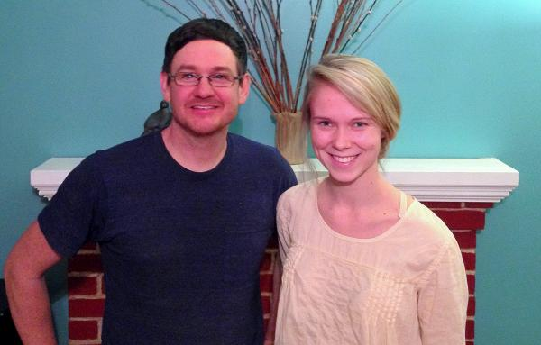 Chapel Hill High School English instructor Michael Irwin and senior Madison Gunning