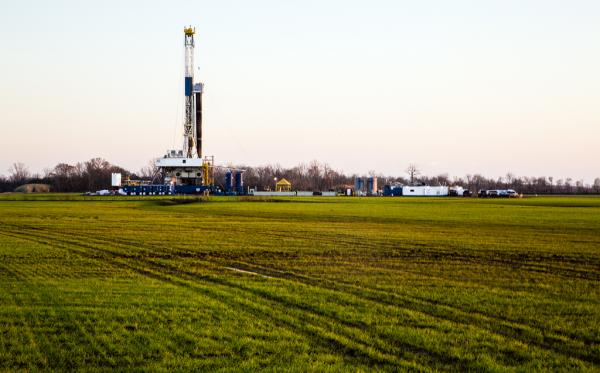 Photo: A drilling site in northeastern Louisiana.