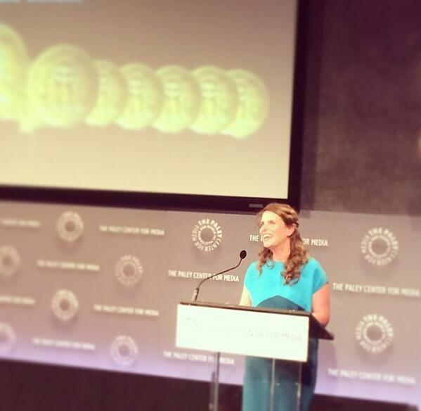 Chef Vivian Howard accepted a Peabody Award for the PBS series 'A Chef's Life'.