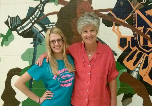 Northern High School junior Sarah Morrison and English teacher Nancy Duffner