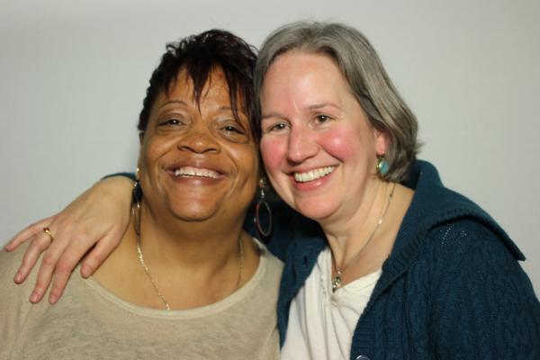 Consandra Jones and Kathleen Walchle