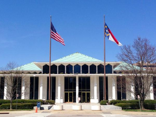 Photo: The North Carolina Legislative Building in downtown Raleigh
