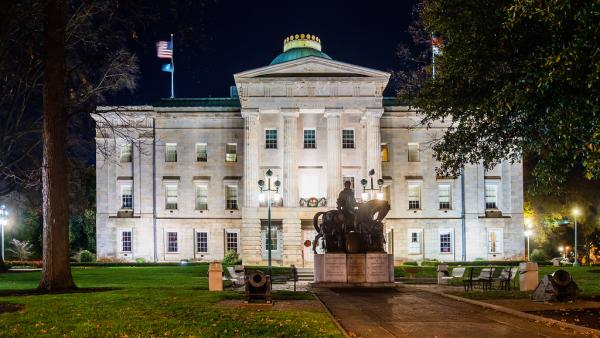 Photo: The old North Carolina State Capitol building.