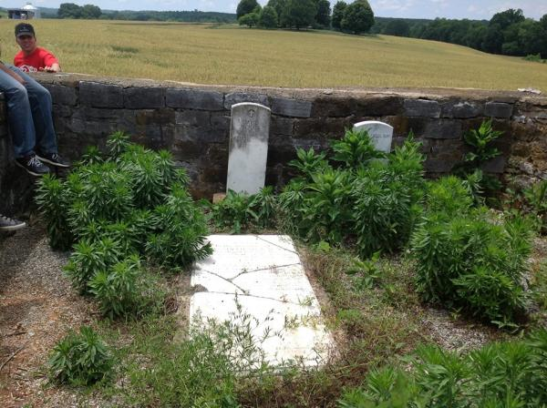 Gravesites of David McNair and his wife Delilah Amelia Vann McNair.