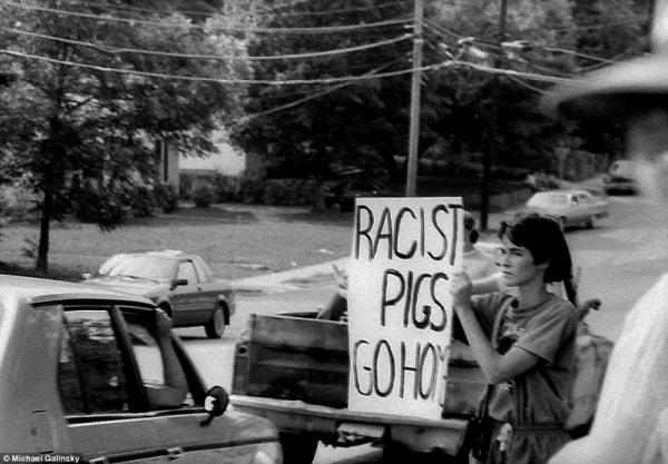 KKK Parade and Rally Chapel Hill, NC June 15, 1987