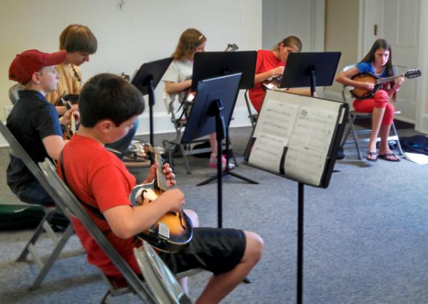 PineCone Bluegrass Camp Mandolin Students
