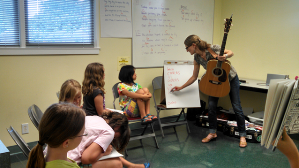 PineCone Bluegrass Camp Songwriting Students