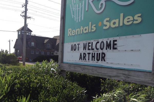 A clearly worded message from an Outer Banks business owner.