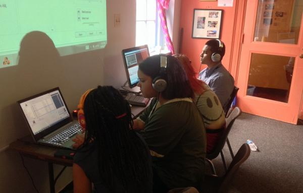 Students create new hip hop rhythms at the Beat Making Lab - a free program on Franklin Street in Chapel Hill