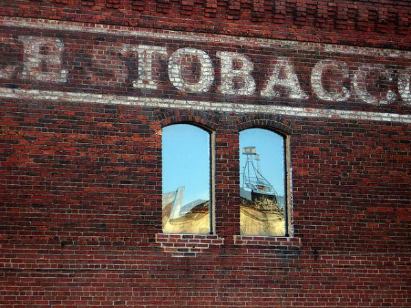 Photo: A tobacco warehouse in Durham
