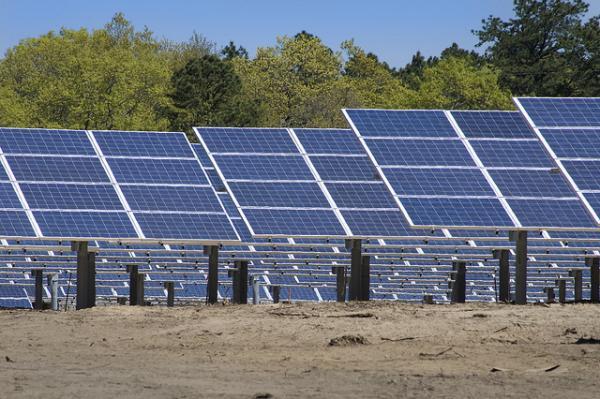 Photo: The construction of a solar farm
