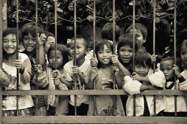 Children at an orphanage in Vietnam