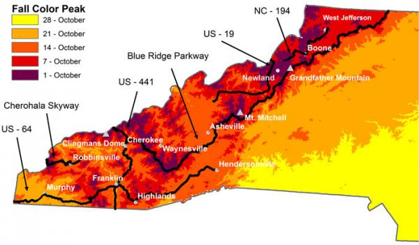 WUNC - Fall colors map