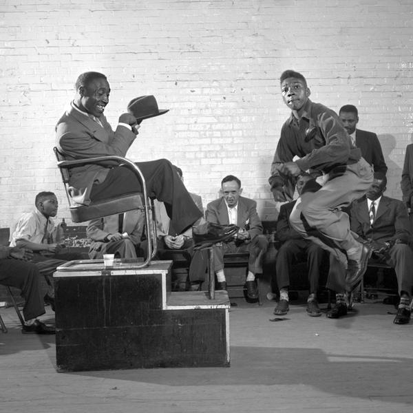Curtis Phillips tries to wow the judges, Shoeshine Competition, 1952
