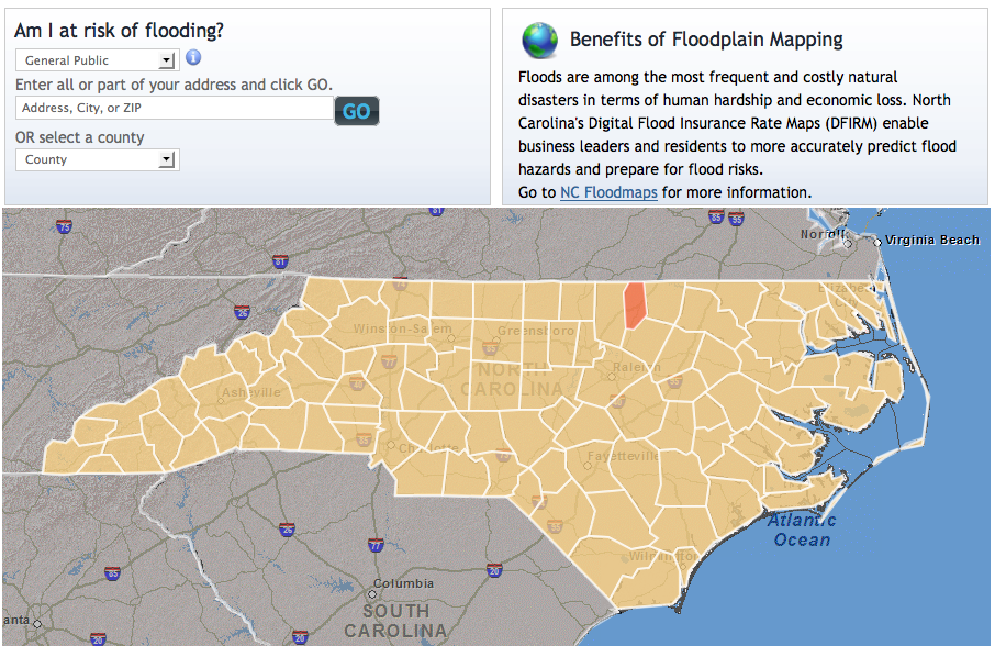Map Geeks Rejoice NCs Flood Risk Map Is Here WUNC - Nc flood maps
