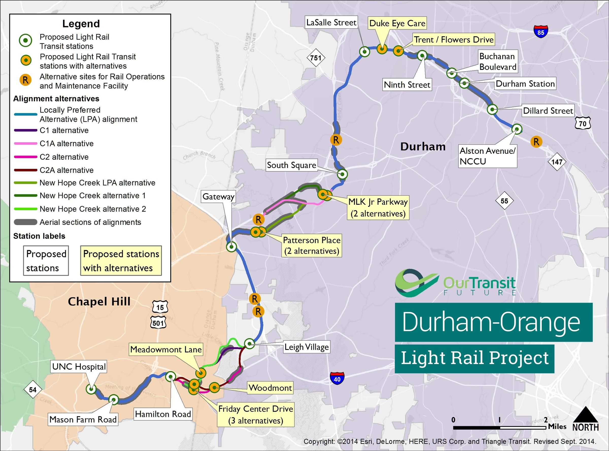 Take A 3D Virtual Tour Of Proposed Light Rail From Durham To Chapel