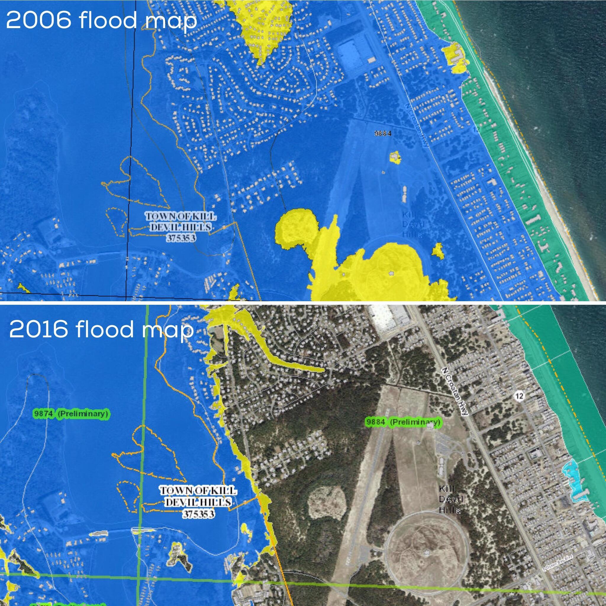 New Flood Maps Downgrade Risk For Coastal Properties WUNC - Nc flood maps