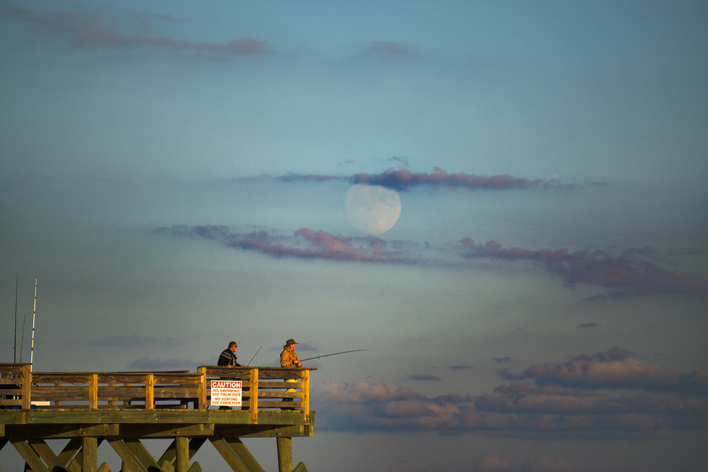 Photos finding light in the darkest hours of the night wunc for Crystal pier fishing